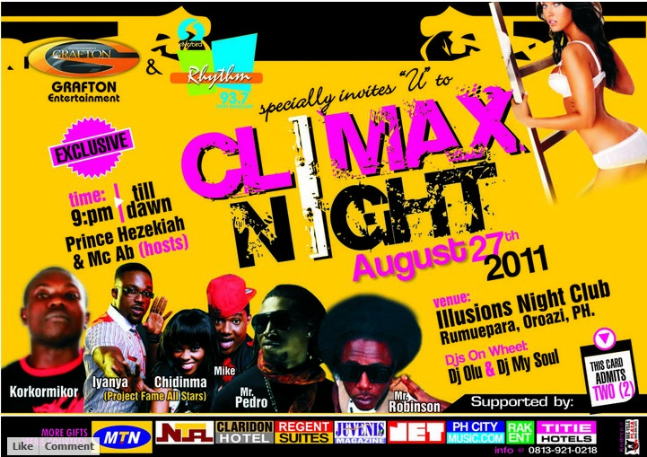 Climax Night August