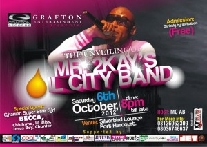 THE UNVEILING OF MR 2KAY OIL CITY BAND