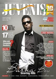 BURNA BOY ON THE COVER OF JUVENIS MAGAZINE