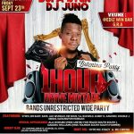 DJ Juno 1 Hour Drive Mixtape + Bands Unrestricted wide Party to hold in Port Harcourt