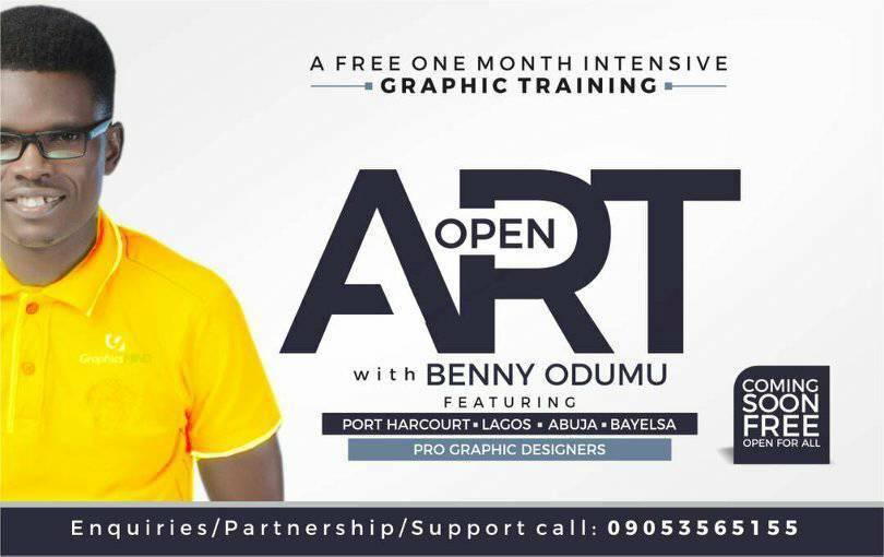 Open Art: One Month Free Graphic Design Training With Benny Odumu