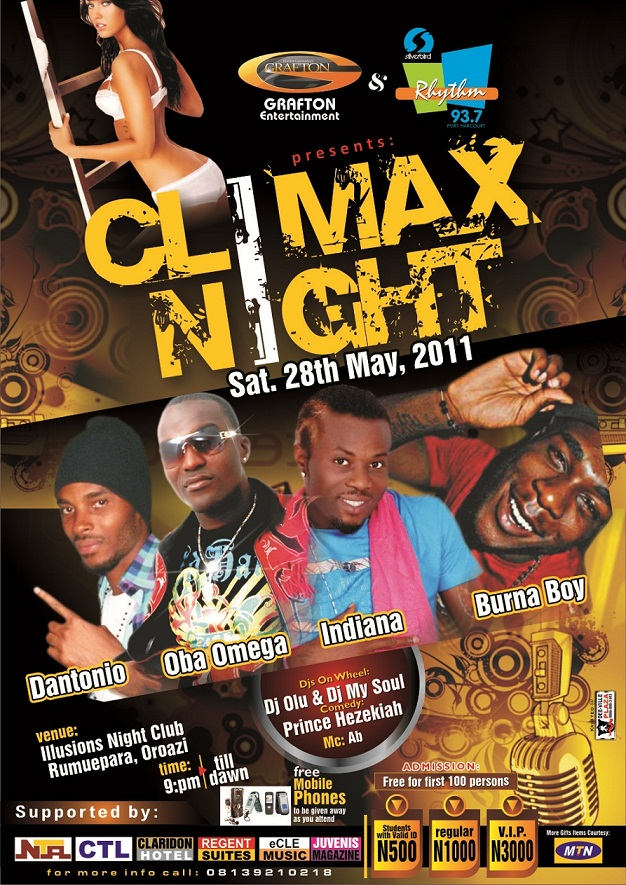 May Edition of the CLIMAX NIGHT
