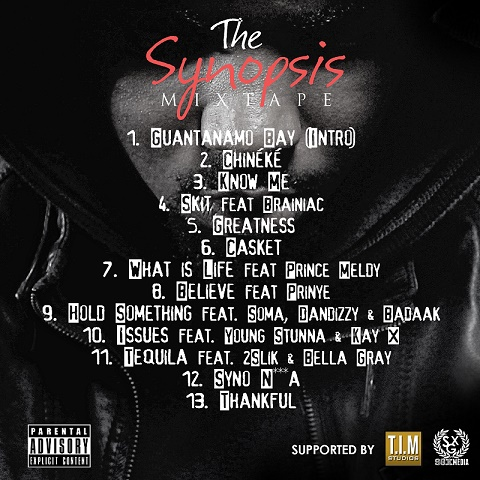 The Synopsis Mixtape Back Cover