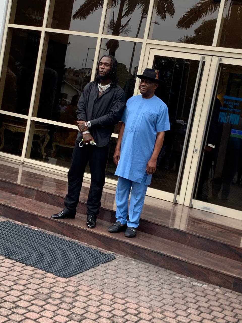 Burna Boy with Governor Wike